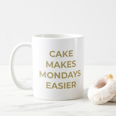 Cake Makes Monday Easier Coffee Mug - Ecommerce Marketing Agency