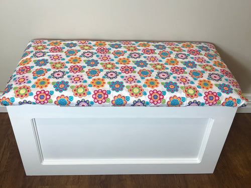 Bright Flowers Toy Box