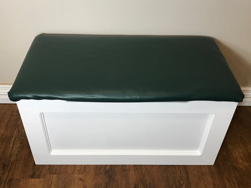 Dark Green Vinyl Toy Box