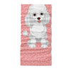 white cute poodle - Neck Gaiter - Dreameris