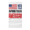Yes i pround to be an american - Neck Gaiter - Dreameris