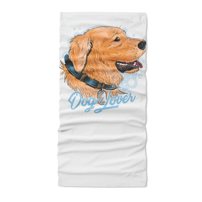 Dog cute golden artwork - Neck Gaiter - Dreameris