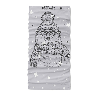 Husky winter happy holiday - Neck Gaiter - Dreameris