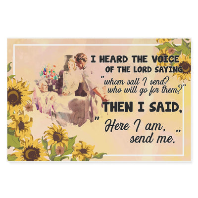 Doctor Nurse I Heard The Voice Of The Lord Saying Then I Said - Matte Canvas - Dreameris