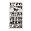 1776 Independence  fire works liberty stars and stripes 4th of july freedom old glory red white blue celebration - Neck Gaiter - Dreameris