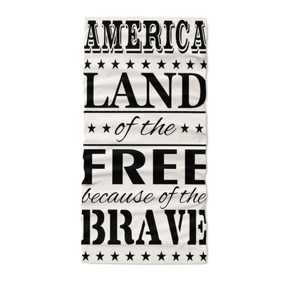 America land of the free because of the brave - Neck Gaiter - Dreameris