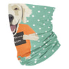 Mugshot prison clothes dog golden retriever - Neck Gaiter - Dreameris