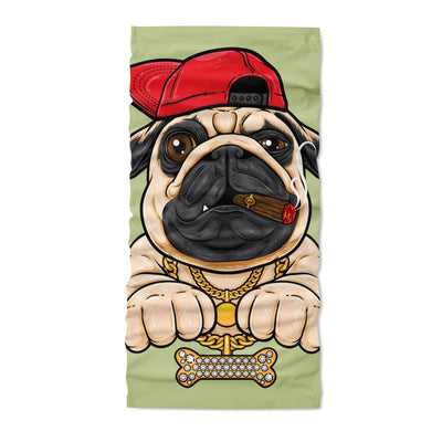 Pug dog hip hop styles neck gaiters  - Neck Gaiter - Dreameris