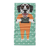 Mugshot prison clothes dog dalmatian - Neck Gaiter - Dreameris