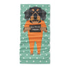 Mugshot prison clothes dog dachshund cute - Copy - Neck Gaiter - Dreameris