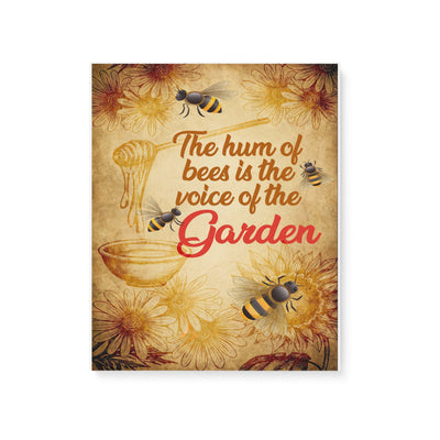 Bee the hum of bees is the voice of the garden -Matte Canvas - Dreameris