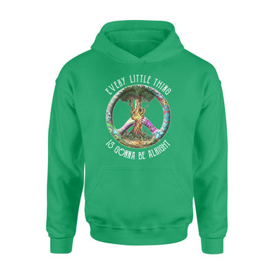Every little thing is gonna be alright tree of life peace hippie - Standard Hoodie - Dreameris