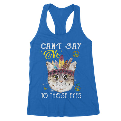 Can't say No to those eyes Hoho Hippie For Cat Lovers - Premium Women's Tank - Dreameris