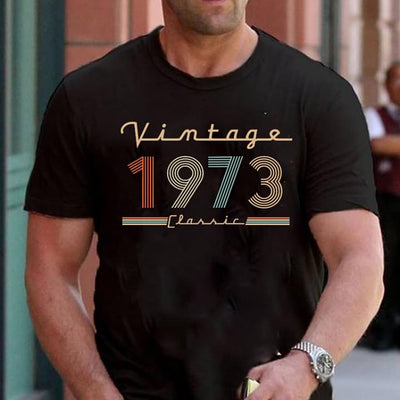 Vintage 1973 Classic Cotton T Shirt - Dreameris