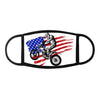 Hand drawn and inked american motocross motorcycle 2 - Face Mask - Dreameris