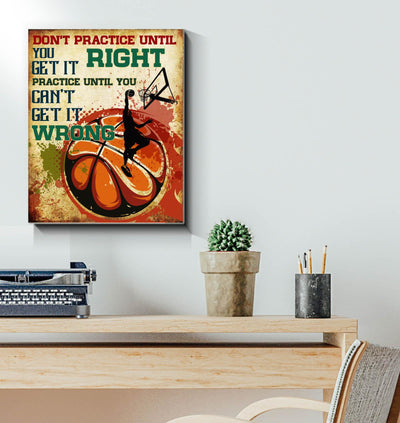 basketball lovers dont practice until you get it right - Matte Canvas - Dreameris