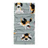 Seamless pattern with funny beagle active dog neck gaiters - Neck Gaiter - Dreameris