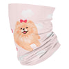 home is where my dog is pomeranian - Neck Gaiter - Dreameris
