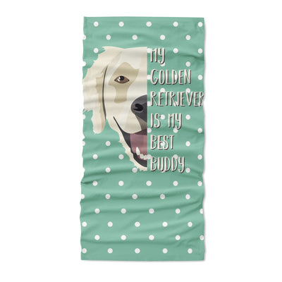 Best friend golden retriever - Neck Gaiter - Dreameris