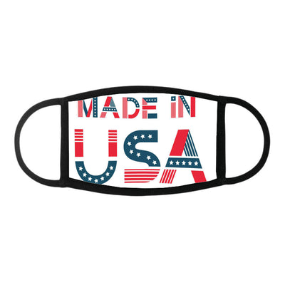 Label made in usa american badge with stars 21 - Face Mask - Dreameris