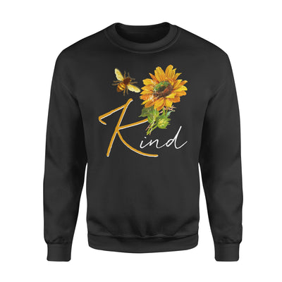 Bee Kind Sunflower Hippie - Standard Crew Neck Sweatshirt - Dreameris