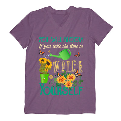 Sunflower You Will Bloom If You Take The Time To Water Yourself - Comfort V-neck - Dreameris