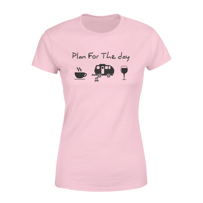 Dreameris Plan For The Day Camping Drink Coffee Wine - Standard Women's T-shirt - Dreameris