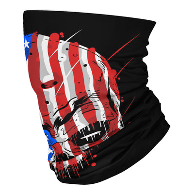 Skull head america flag usa neck gaiters - Neck Gaiter - Dreameris