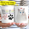 Personalized Funny Cat I'll Be Watching Custom Photo Gift For Cat Lovers Coffee Mug - Dreameris
