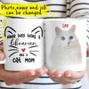 Personalized Kinda Busy Being A Cat Mom Custom Photo Gift For Cat Lovers Coffee Mug - Dreameris