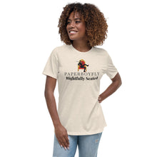 Load image into Gallery viewer, PaperboyFly Rightfully Seated Women's Relaxed T-Shirt