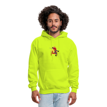Load image into Gallery viewer, PBF Men's Hoodie - safety green