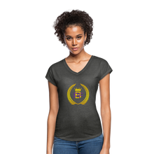 Load image into Gallery viewer, PaperboyFly Women's Tri-Blend V-Neck T-Shirt - deep heather