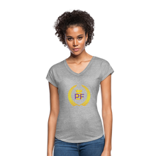 Load image into Gallery viewer, PaperboyFly Women's Tri-Blend V-Neck T-Shirt - heather gray