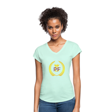 Load image into Gallery viewer, PaperboyFly Women's Tri-Blend V-Neck T-Shirt - mint