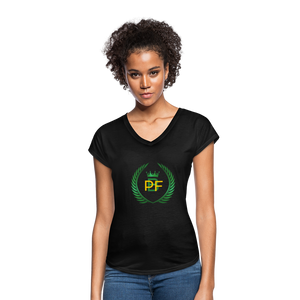 PaperboyFly Women's Tri-Blend V-Neck T-Shirt - black