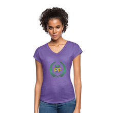 Load image into Gallery viewer, PaperboyFly Women's Tri-Blend V-Neck T-Shirt - purple heather