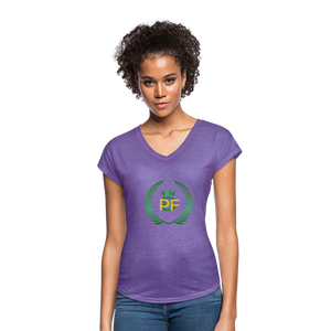 PaperboyFly Women's Tri-Blend V-Neck T-Shirt - purple heather