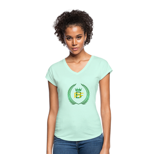 PaperboyFly Women's Tri-Blend V-Neck T-Shirt - mint