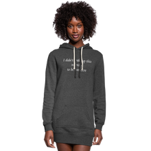 Load image into Gallery viewer, PaperboyFly Women's Hoodie Dress - heather black