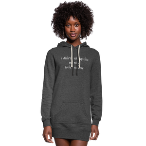 PaperboyFly Women's Hoodie Dress - heather black