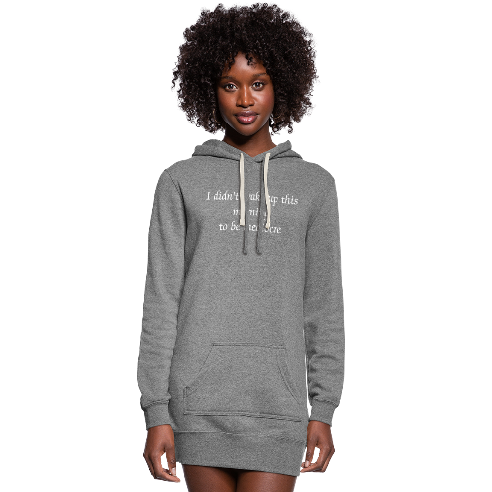 PaperboyFly Women's Hoodie Dress - heather gray