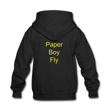 Load image into Gallery viewer, Paperboy Fly Kids' Hoodie - black