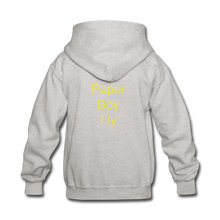 Load image into Gallery viewer, Paperboy Fly Kids' Hoodie - heather gray