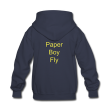 Load image into Gallery viewer, Paperboy Fly Kids' Hoodie - navy