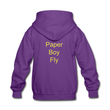 Load image into Gallery viewer, Paperboy Fly Kids' Hoodie - purple