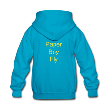 Load image into Gallery viewer, Paperboy Fly Kids' Hoodie - turquoise