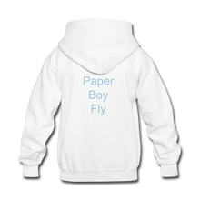 Load image into Gallery viewer, PaperboyFly Kids' Hoodie - white