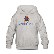 Load image into Gallery viewer, PaperboyFly Kids' Hoodie - heather gray