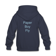 Load image into Gallery viewer, PaperboyFly Kids' Hoodie - navy